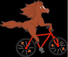 horsebikerider